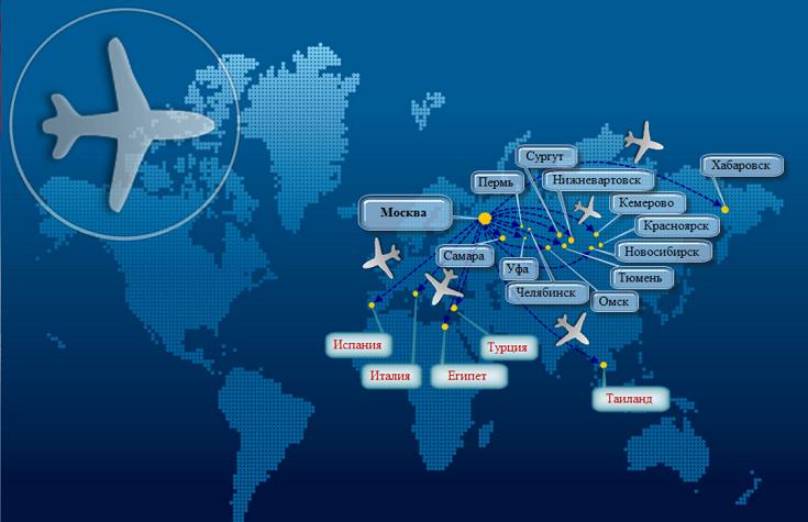 Карта маршрутов I Fly