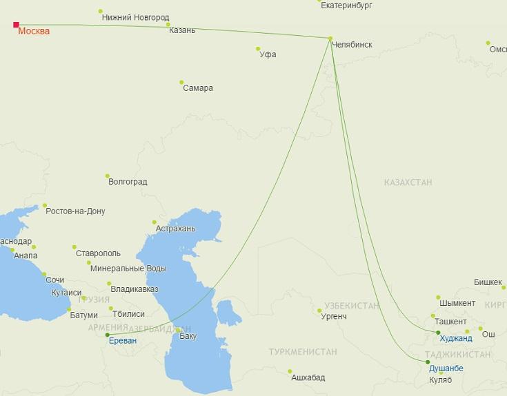 Рейсы S7 из Челябинска