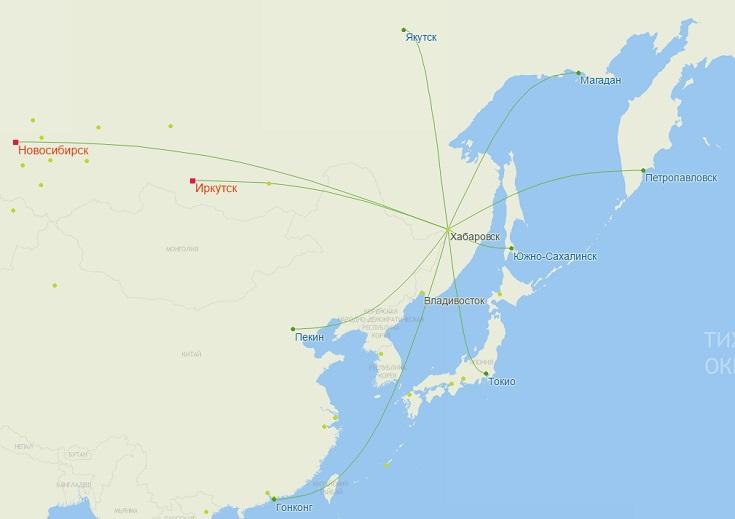 Рейсы S7 из Хабаровска