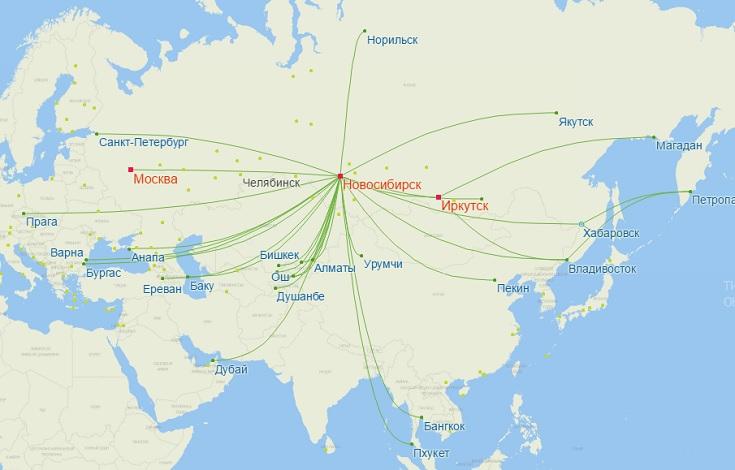 Рейсы S7 из Толмачево