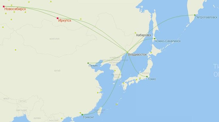 Рейсы S7 из Владивостока