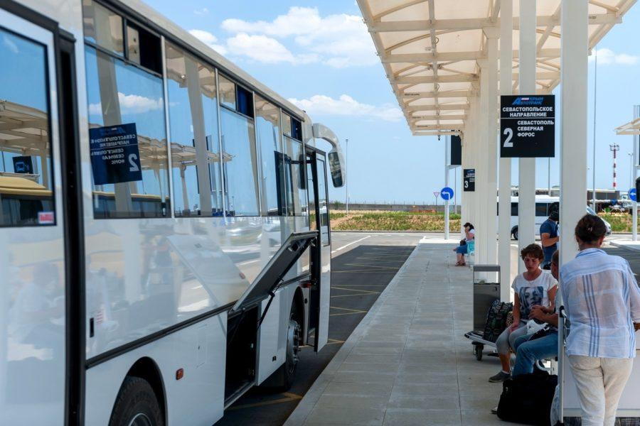 остановка междугородного транспорта в а/п симферополь